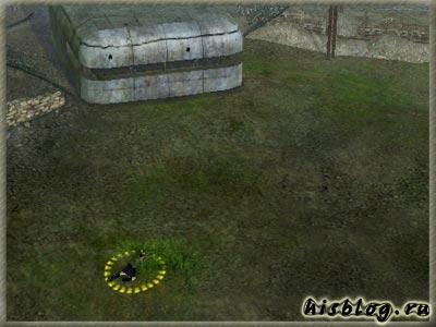 Пустомоевой надо доползти до кустов напротив первого бункера