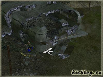 Пустомоева возле первого бункера