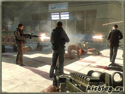 Макаров расстреливает гражданских в аэропорту