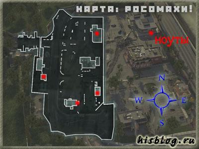 Карта миссии росомахи