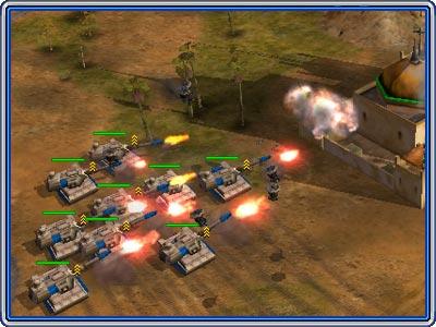 Атака опытными танками на последнее здание ГАО