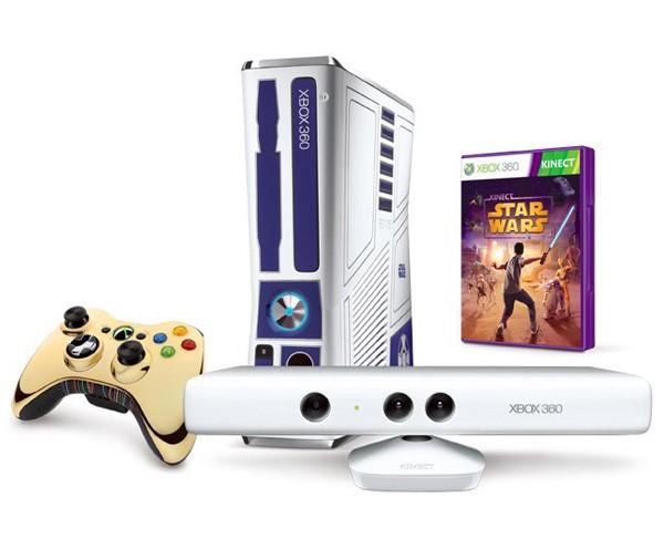 Xbox 360. Консоль выполнена в стиле дроида R2-D2