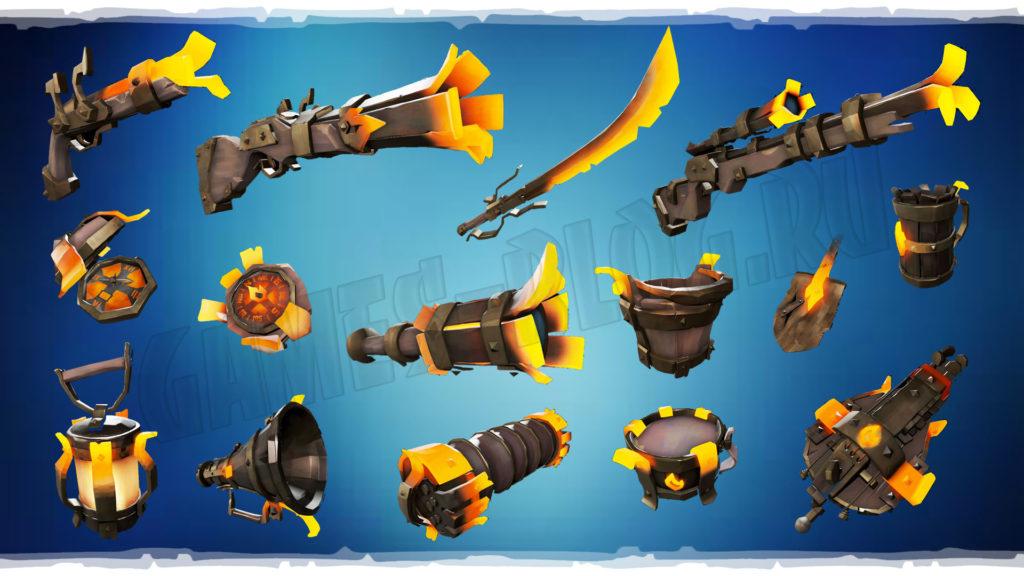 Весь сет оружия и инструментов набора Blacksmith Set